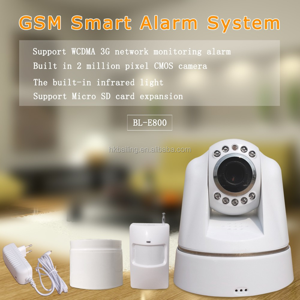 Fire/Water leak/Smoke Alarm 3G GSM Alarm System Security Camera System