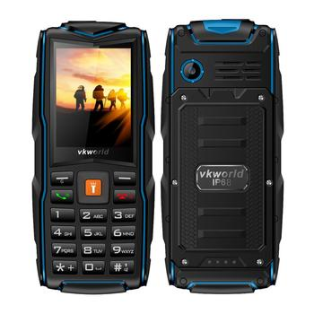 Vkworld New Stone V3 Feature Phone GSM Flashlight Power Bank 2.4 inch Screen Three SIM Waterproof Rugged Cell Phone