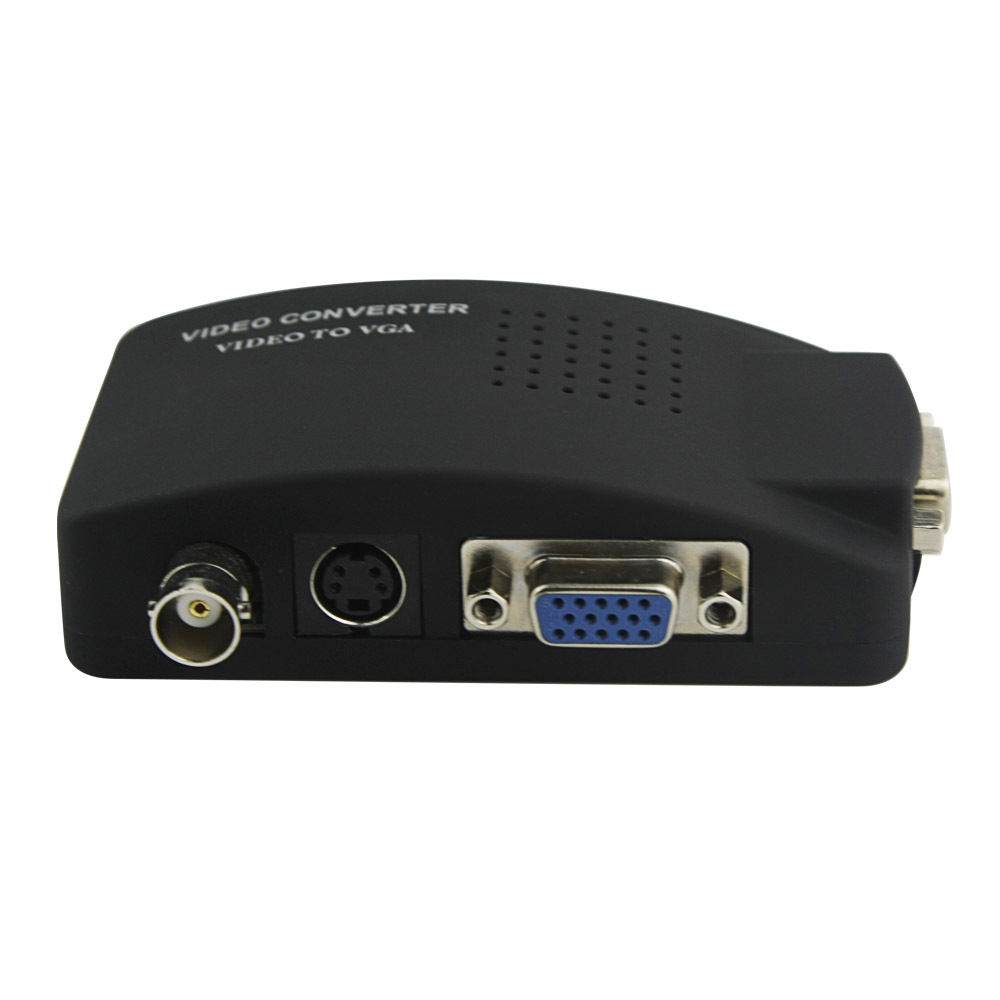 BNC/RCA S-Video AV Naar VGA Converter Adapter Converter