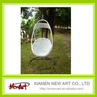 Swing white rattan outdoor furniture