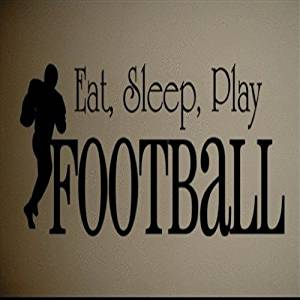 Dailinming PVC Wall Stickers Wall Decal Art Sticker Quote Vinyl Eat Sleep Football Kids Wall Quote Art Decal 23X69CM