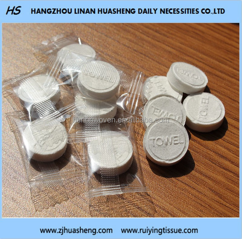 tablet dry coin tissue, tablet magic tissue, tablet easy stock compressed tissue