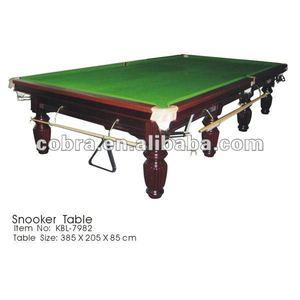 12ft Hardwood Snooker Billiard Table With 3pc Slate Topfield