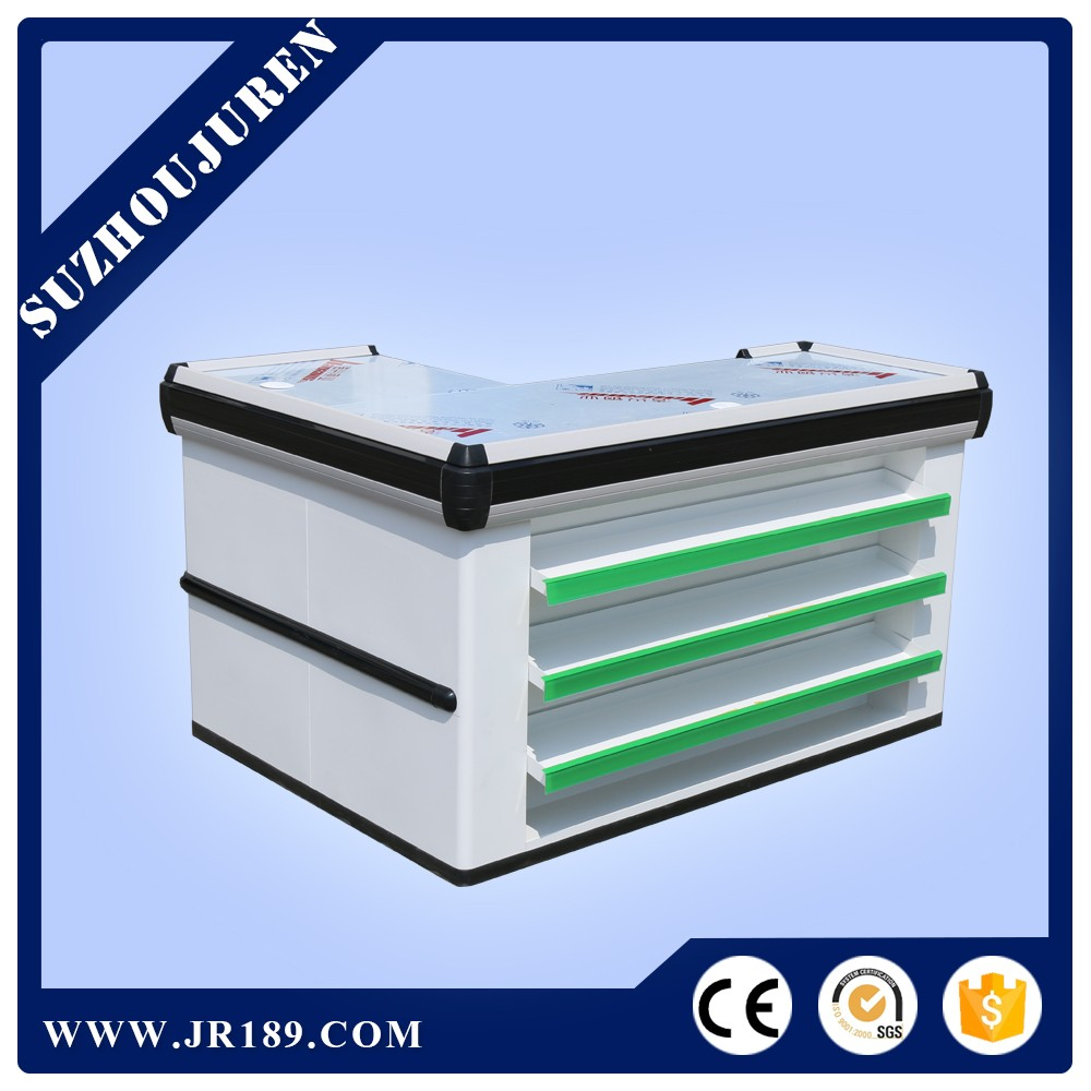 Juren JR-S046 low price supermarket modern wood cash counter design for shop