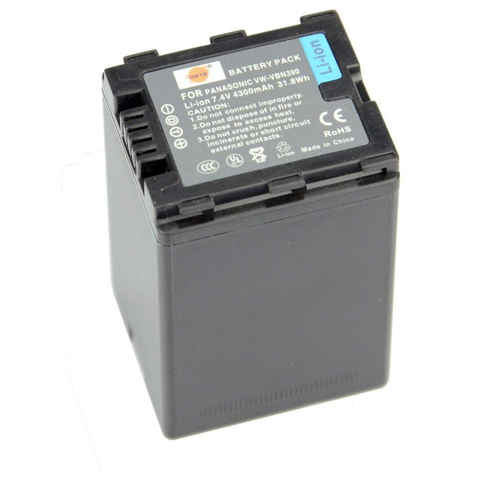 DSTE VW-VBN390 Replacement Li-ion Battery for Panasonic HDC-SD800GK HDC-TM900 HDC-HS900 HDC-SD900 Digital Camera
