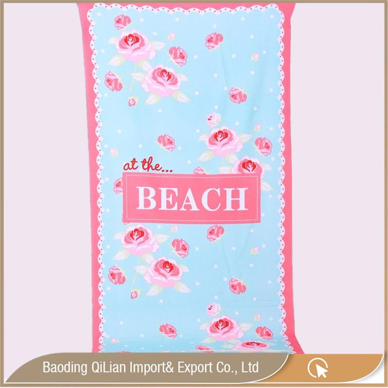 printing soft beach towel square brand towel