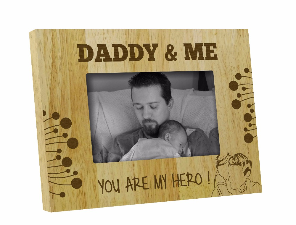 Personalized Wooden Picture Photo Frame, Daddy & Me Fathers Day Gift