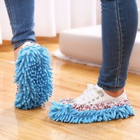 2018 Amazon Hot Sale New Product Chenille Shoes Slippers Mopping Shoe Covers Microfiber Shoe Mop Caps House Clean Tool