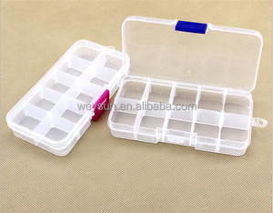 10 Grids Plastic Plectrum Case Storage Box Adjustable Grid Size Keep Your Guitar Picks and Other Small Things