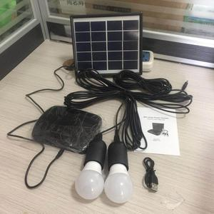 PV mini home solar lighting system with FM radio AT-9006A solar lighting kits