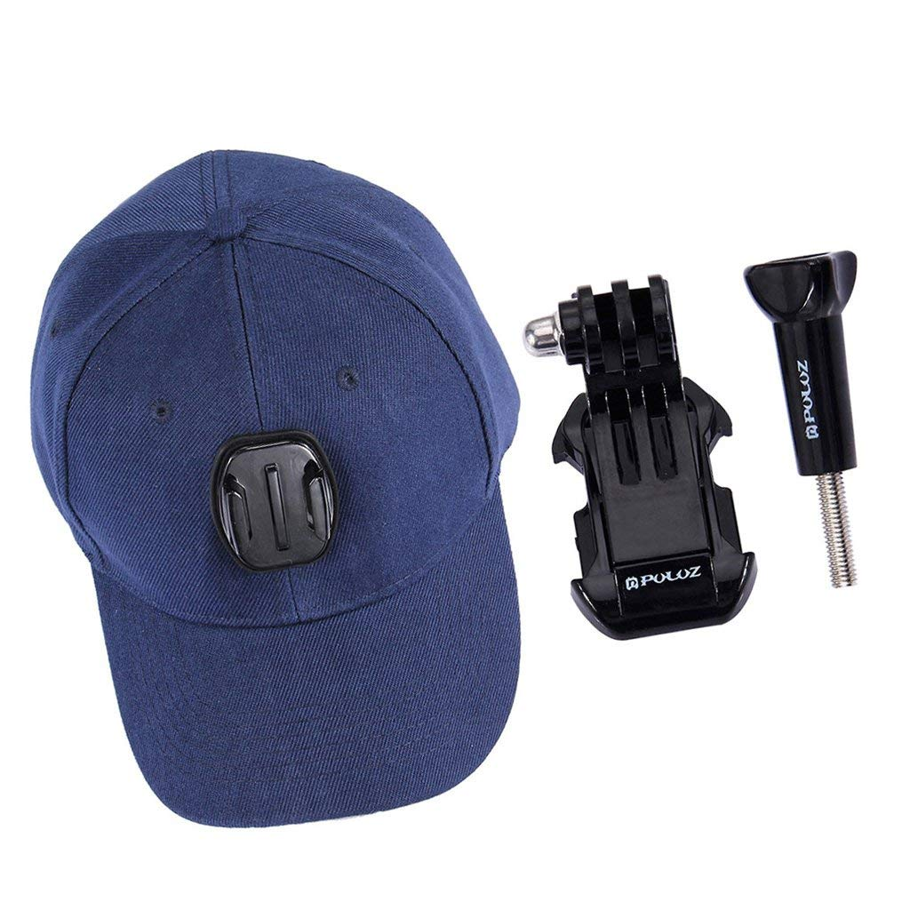 Baseball Hat Compatible with Removable GoPro Camera Head Mount Gopro Camera Accessories for GoPro HERO6 HERO5 HERO4 Session HERO 6 5 4 3 2 1,Xiaoyi and other action cameras