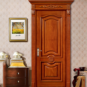 Rustic Indian Antique Wood Door Entry Deep Carving Design