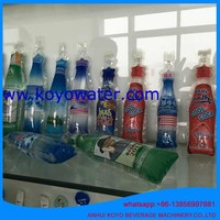 250ml plastic bottle shape pouch bag filling sealing making and packing machine for soft juice drinks/energy drink/carbonated be