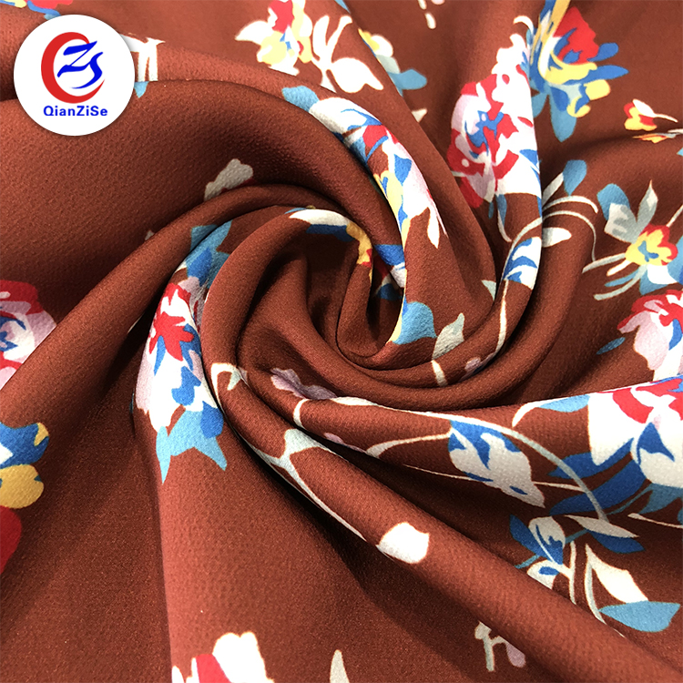 Shaoxing factory 100% polyester 3D flower shiny stretch satin fabric