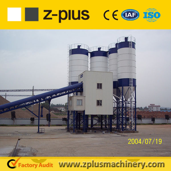 Shock fored design good faith HZS120 aggregate batching plant