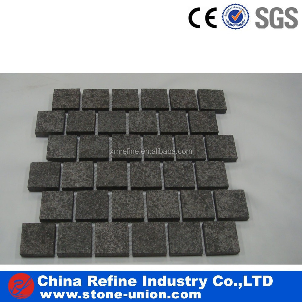 G684 basalt pavers on mesh
