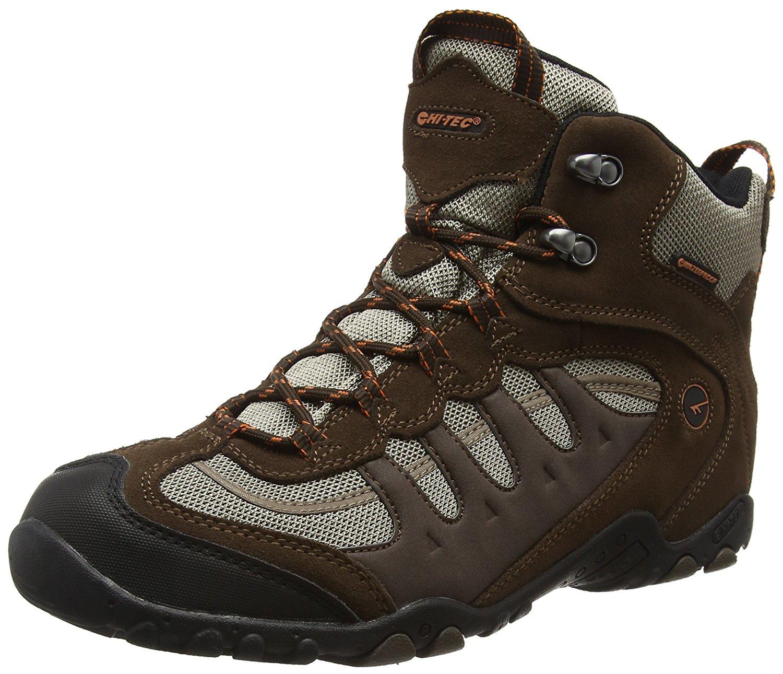 cf97b821fe8 Hi Tec Mens Mens Penrith Mid Lace up Suede Waterproof Walking Boot Brown  Suede