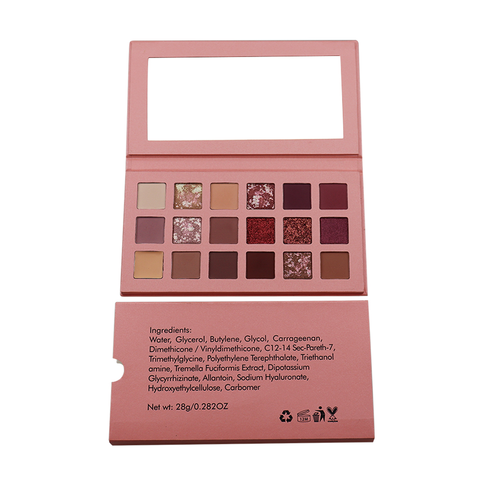 Best selling 18 colors shimmer eyeshadow palette private label makeup for <strong>eyes</strong>