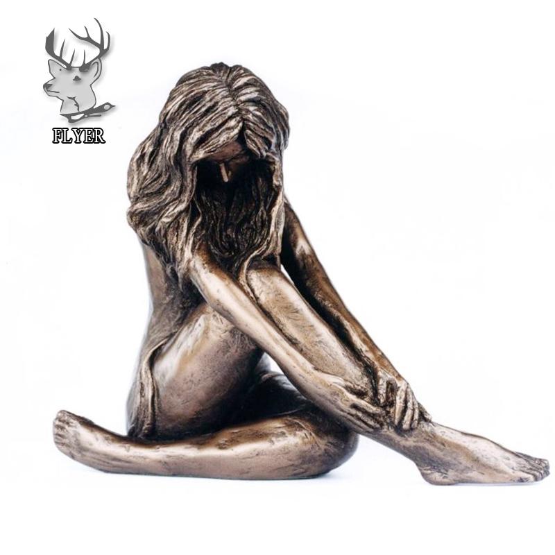 Sculpture: Harriet (Bronze Nude Dancer Girl statue) by