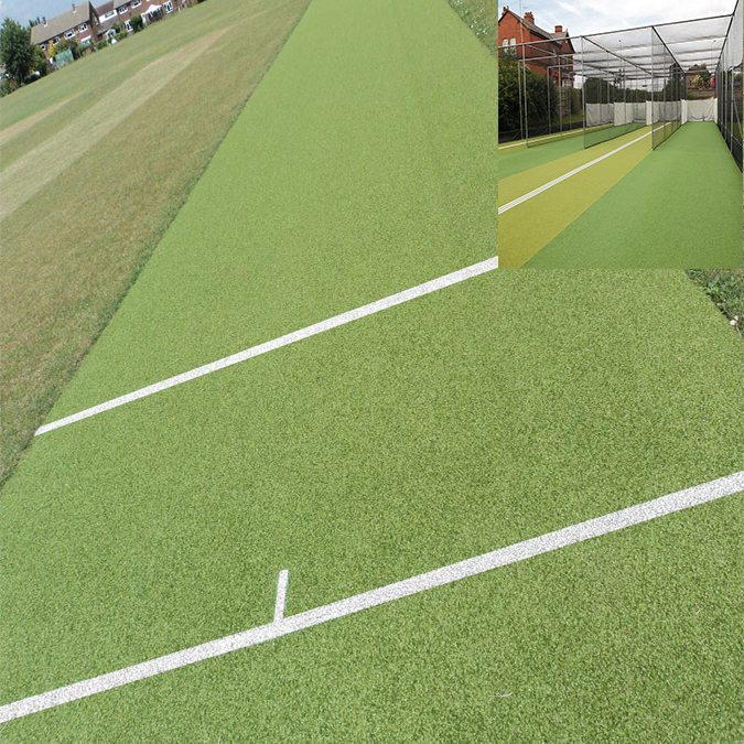 Hot sales 10mm hoge dichtheid kunstmatige cricket gras kunstgras voor cricket hof