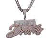 Custom Iced Out Simulated Diamond Big Size combine letters Pendant