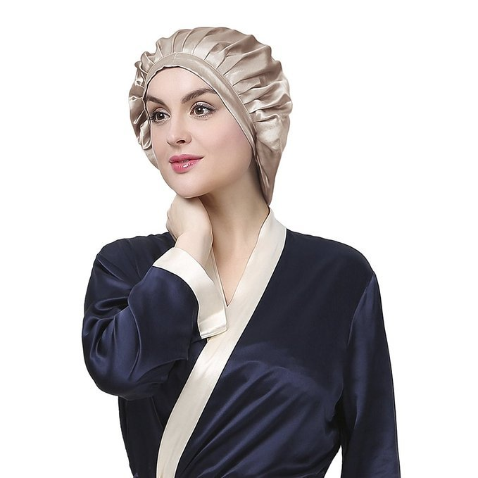 High Quality Soft Sleeping Silk satin sleeping cap Women Silk Sleep Hair Bonnet