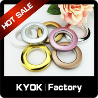 Window decor wrought iron curtain rod good quality curtain rings, diamond decor good price curtain eyelet manufacturer