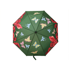 21 inch auto open and close telescopic shaft magic color changing umbrella with rubber coating handle