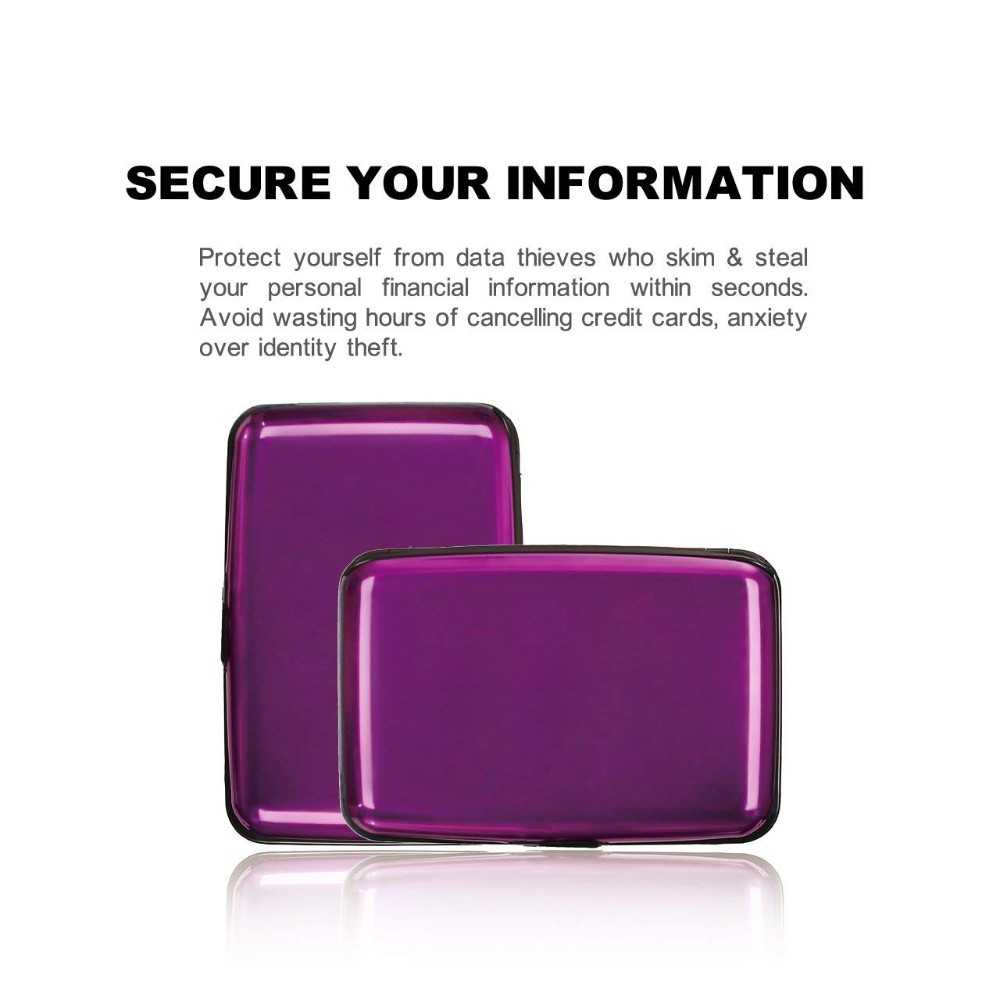 RFID Blocking Credit Card Protector ID card holder/ RFID Blocking Wallet Case for Women or Men