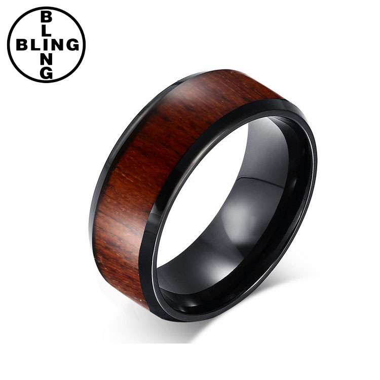 >>>Designer Jewelry Wood Tungsten Ring Blank For Men