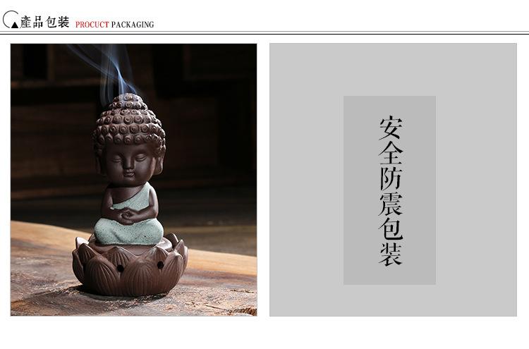 2016 New Ceramic Incense Burner Buddha Holder Handmade ... 930f00eb243