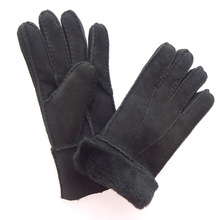 Wholesale Hand Sewing Winter Merino Sheepskin Ladies Patched Cheap Leather Gloves