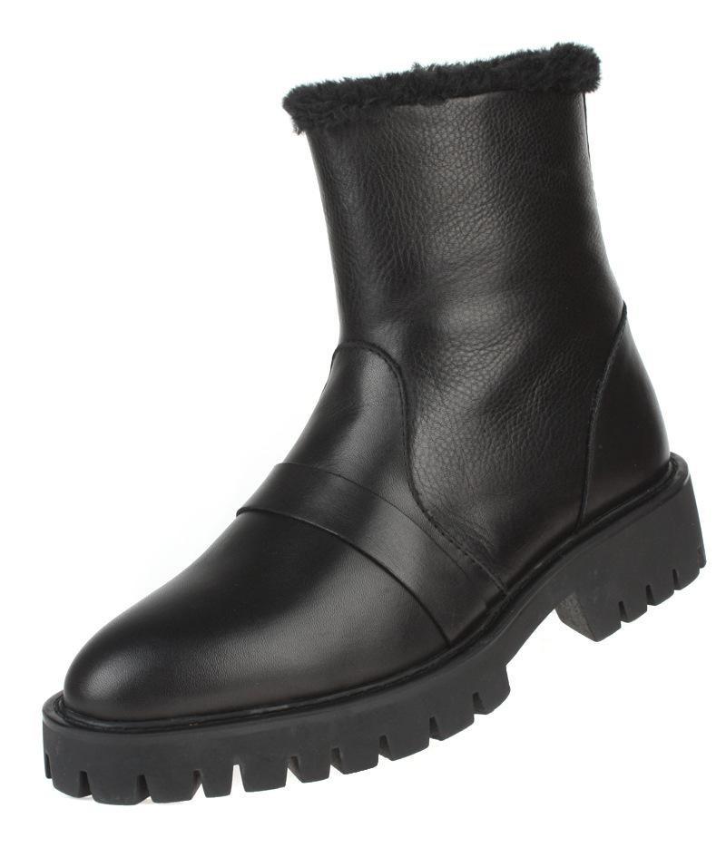 2016 Fashion Brown Black Mens Ankle Boots Platform Genuine