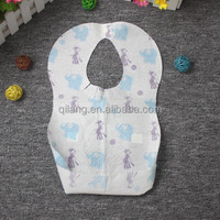 Cartoon Print disposable large baby bibs Disposable Animal Print Baby Bib for Restaurant