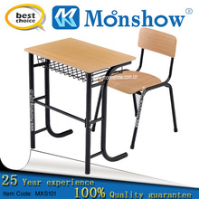 steal shelf school study table and chair , school furniture,china export.