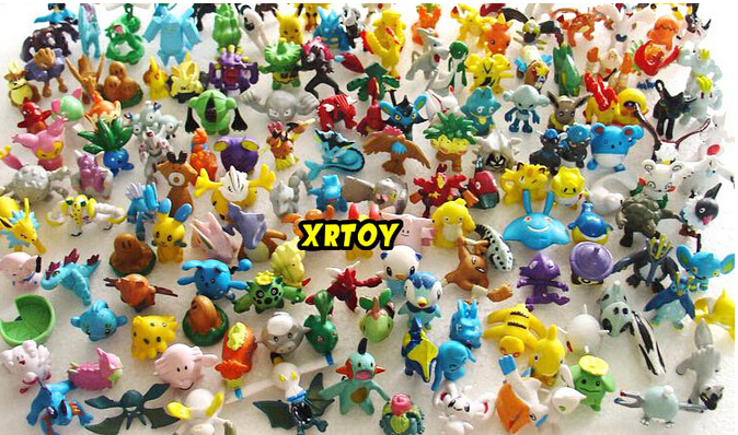 144pcs lot Pokemon model Toys Figures PVC action toy figures 2 3 cm Mini Pokemon Animal