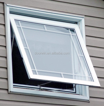 Good quality aluminum awning window/top hung window for bathroom