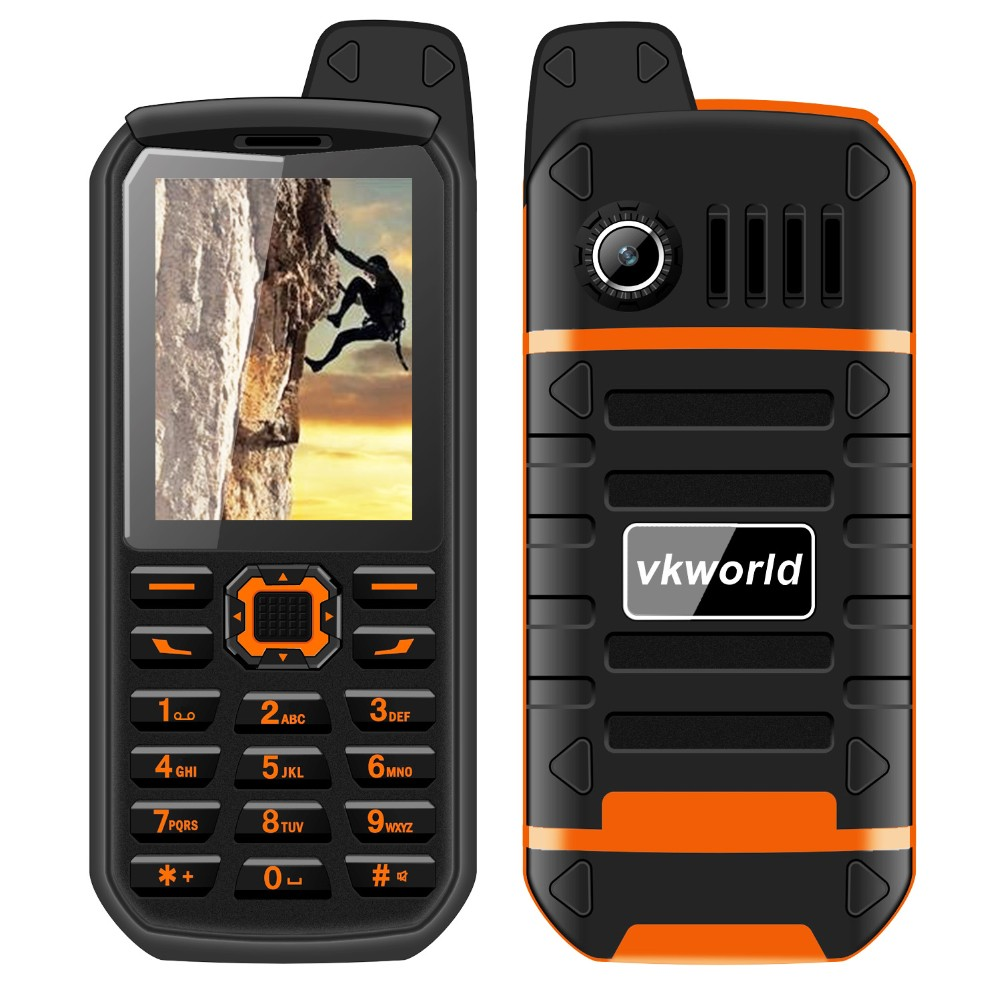 Factory Price VKWORLD V3 PLUS 2.4inch cell phone dual sim rugged waterproof mobile phone 3000mah With light