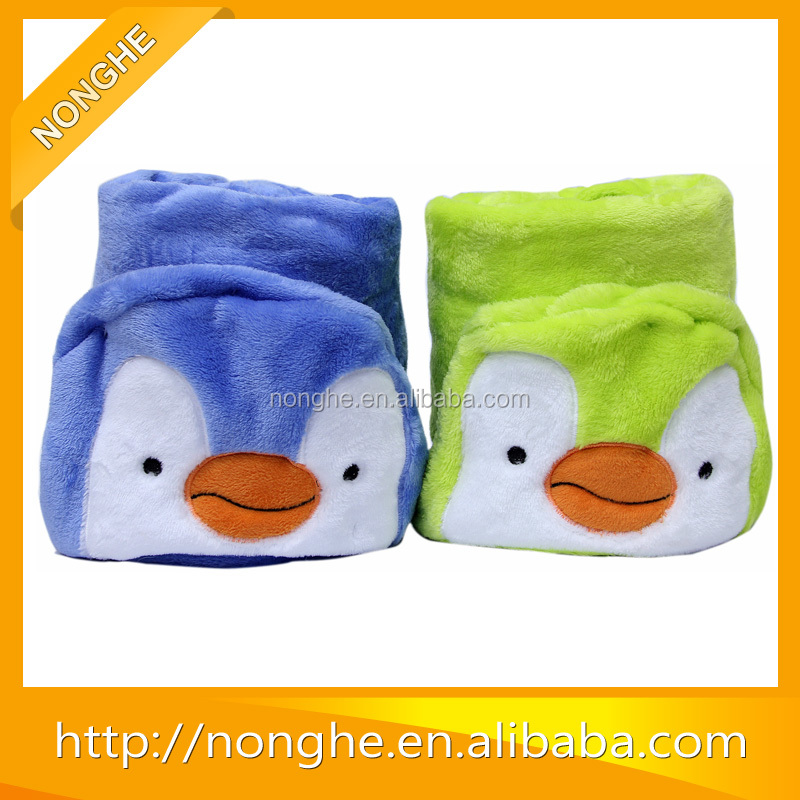 Soild Color Professionally Custom Soft Touch Animal Pattern Kids Baby Hooded Towel Wholesale