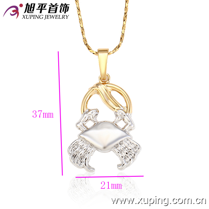 31978 xuping Environmental Copper gold plated two tone 12 zodiac pendants