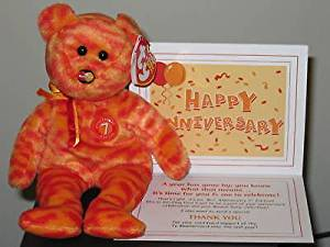 25e0282374d Get Quotations · (Ship from USA) Ty Beanie Baby ~ MC ANNIVERSARY  7 7th  Edition Mastercard