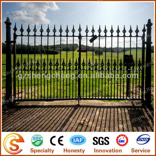 Fixable Antirust Stee Garden Gate Galvanized Steel Gates Grill