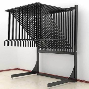 Metal Hanging Carpet Rug Display Stand Rack For