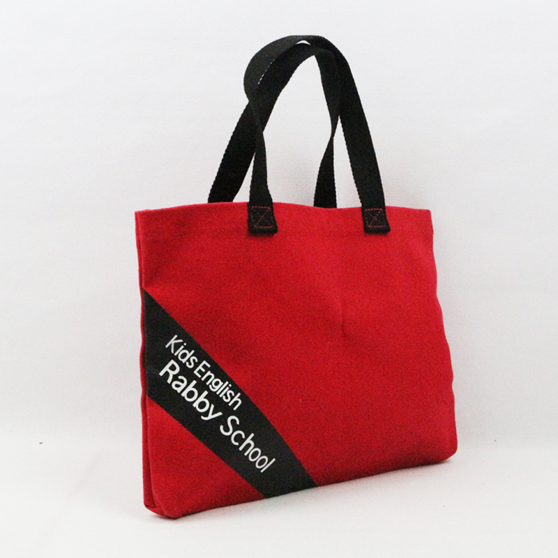 10oz cotton canvas shopping handbag red plain canvas tote bag