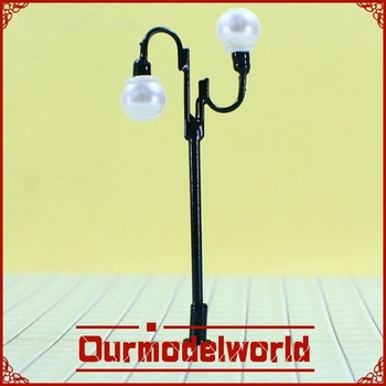 Scale miniature model accessories supply / model copper lighting lamps for scale model train layout T71