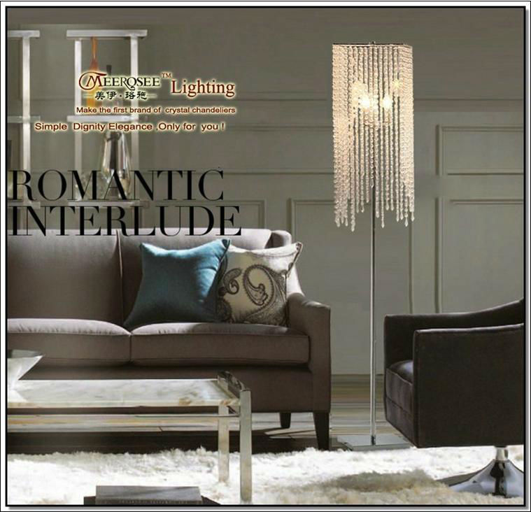 chandelier floor lamp diy crystal impressive closeout draped jewels