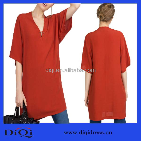 Sexy loose muslim viscose fancy tunic top women tshirt cotton viscose women dressy tunics
