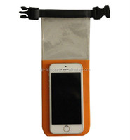 Portable Orange Outdoor Sport Mobile Phone Waterprooof Bag