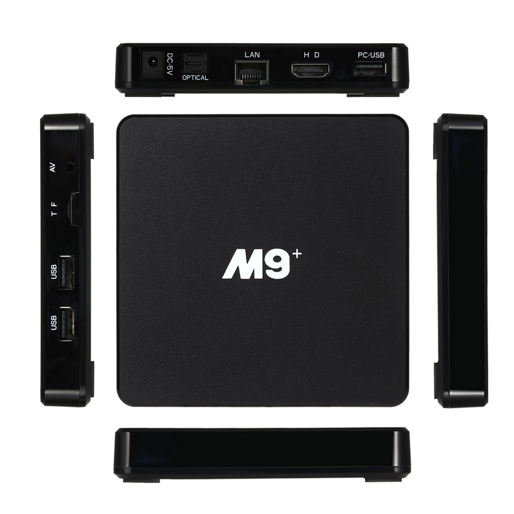 M9+ <strong>Android</strong> <strong>TV</strong> <strong>Box</strong> <strong>Android</strong> 5.1 Amlogic S905 Quad Core 64bit 1G/8G KODI XBMC UHD 4K 3D Mini LAN WiFi H.265 DLNA Airplay Miracast