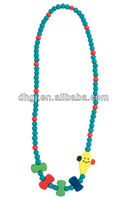 Multicolor handmade wood bead jewelry for children